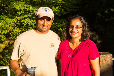 Priyesh and Shripal at the top of Multnomah Falls