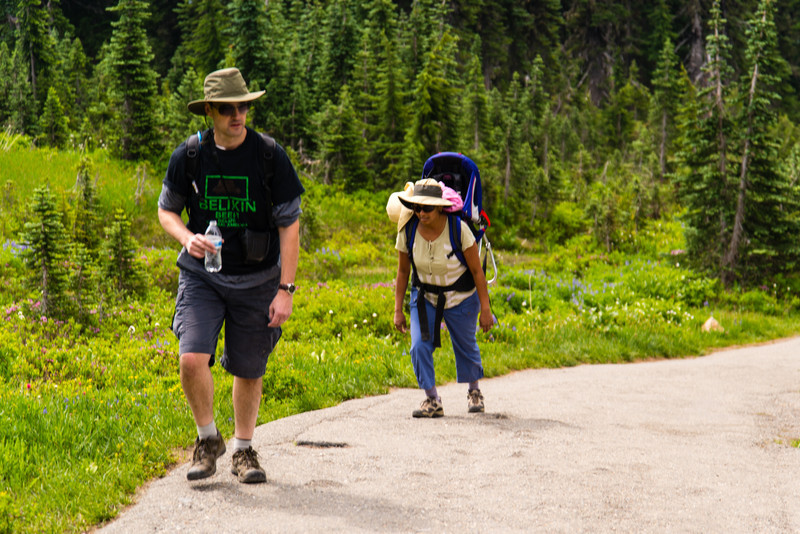 Making our way along the Skyline Trail. One of the most scenic hikes I've ever been on.