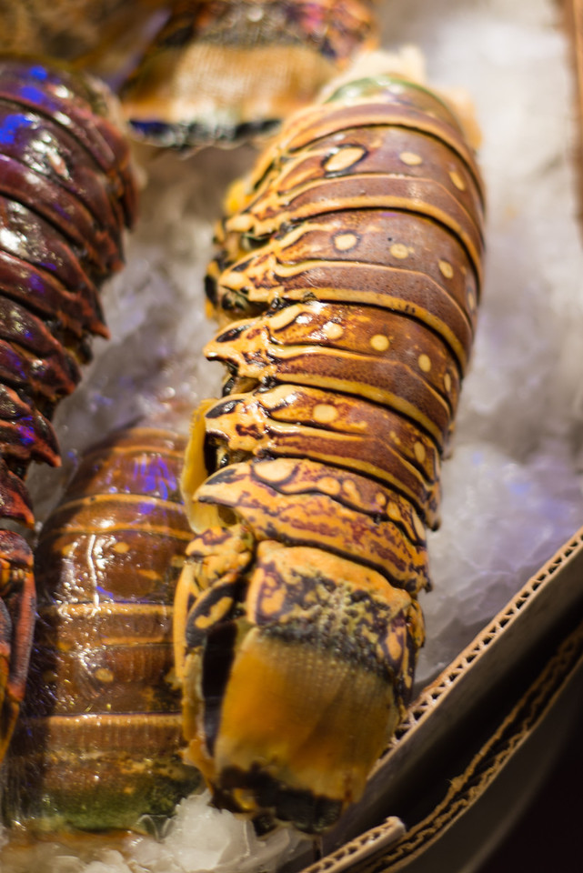 Lobster tails at the Pike Place Market