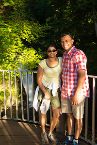 Bhumisha and me at the top of Multnomah Falls
