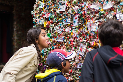 The gum wall!