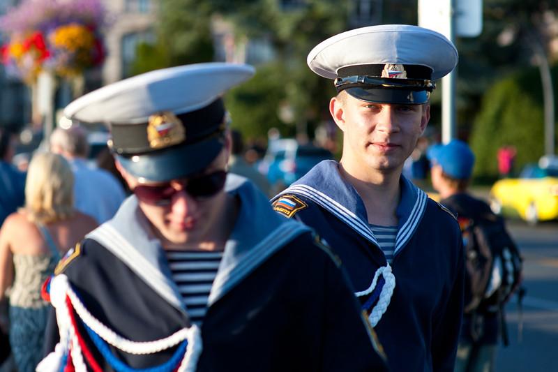 Russian sailors in Victoria BC