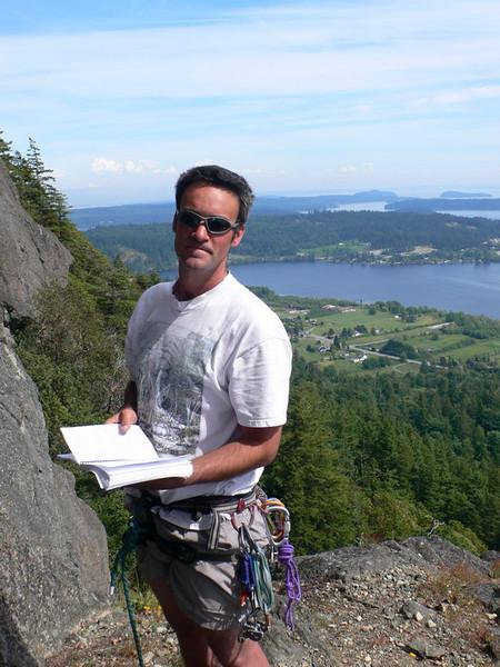 My climbing guide and guru, Joseph on Mt Erie, WA