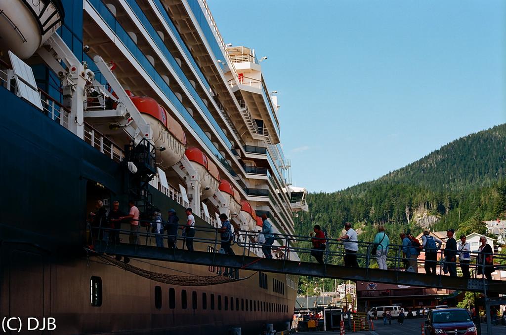 Holland America's MS Noordam at Ketchikan, AK.