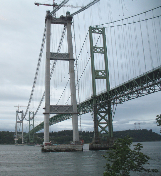 Tacoma Narrows Bridge, May 2006. Image Copyright 2006 by DJB.  All Rights Reserved.