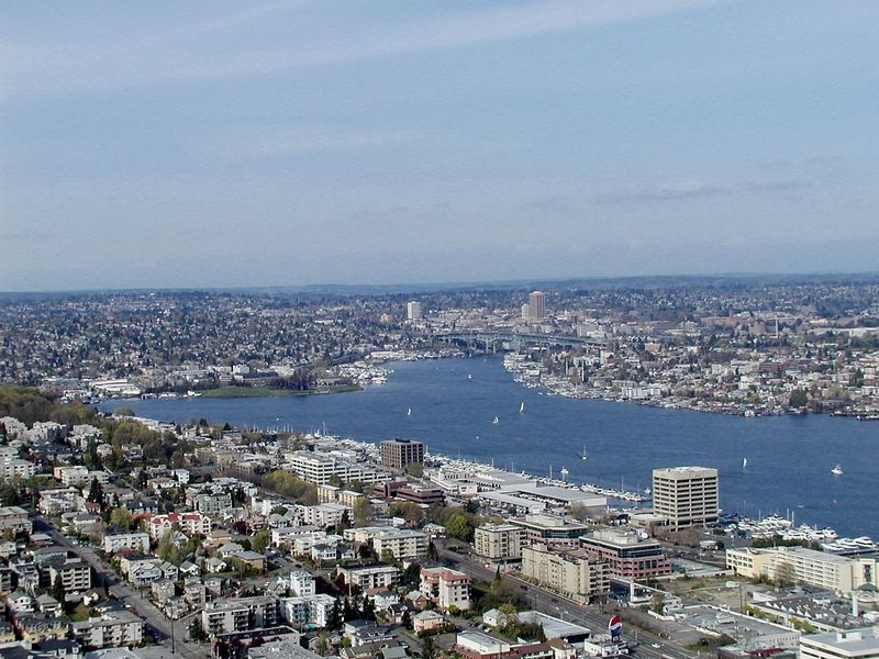 Lake Union - Looking NE from the Space Needle