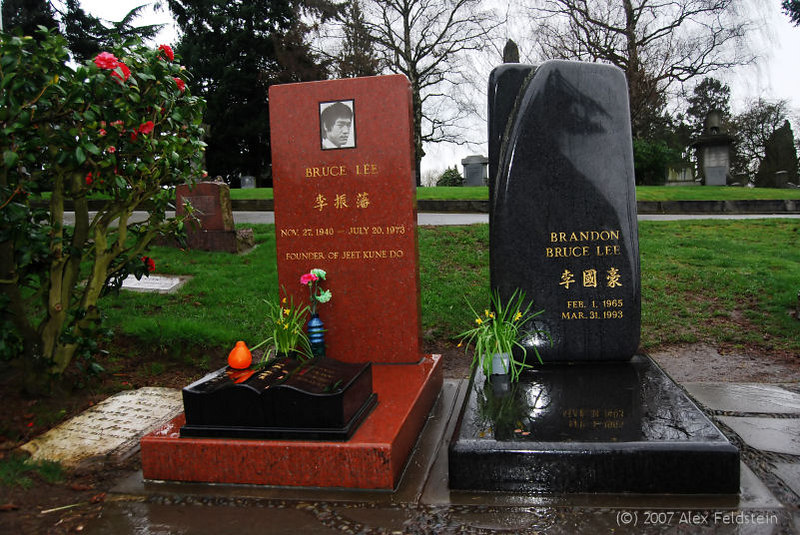 Bruce Lee - Brandon Lee<br /> Lakeview Cemetery