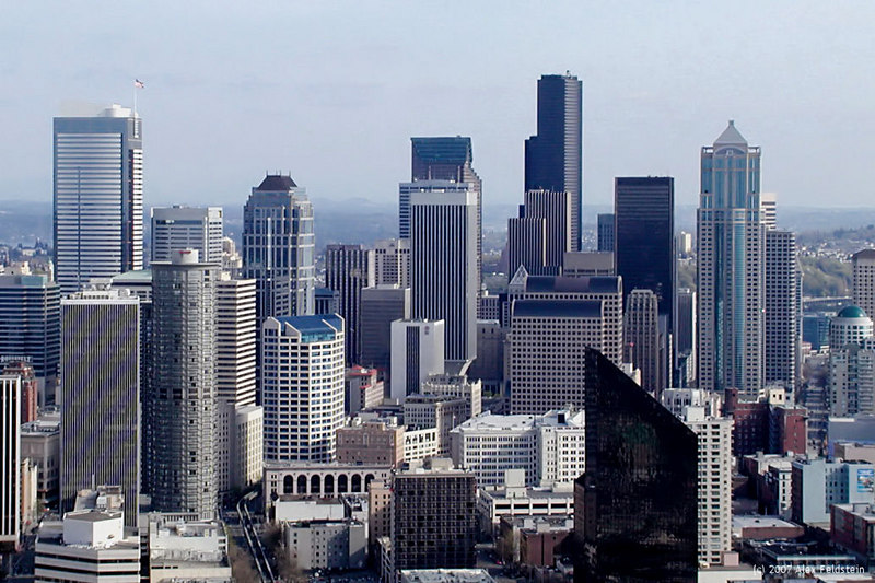 Downtown Seattle - Looking S from the Space Needle