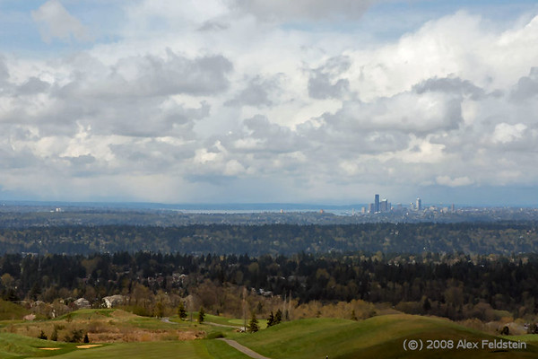 Seattle viewed from Newcastle, WA