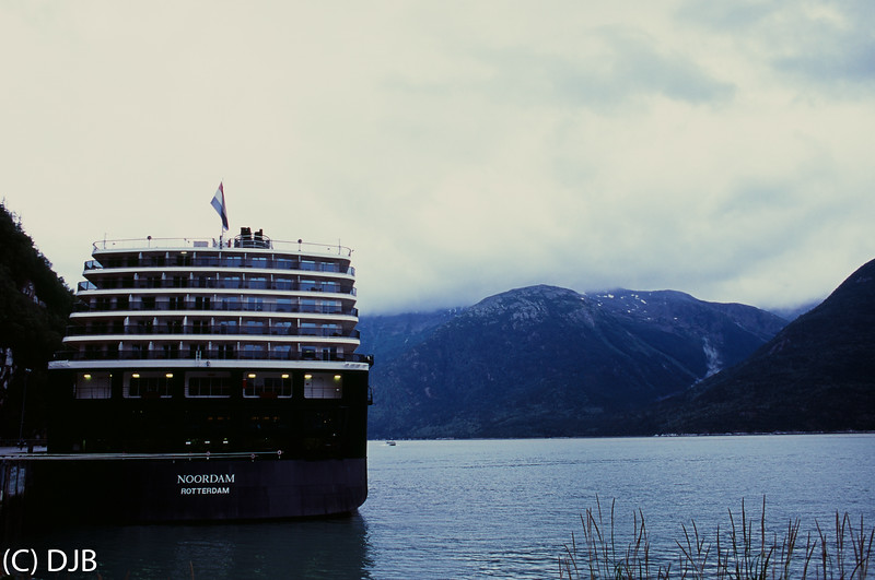 Holland America's MS Noordam at Skagway, AK.