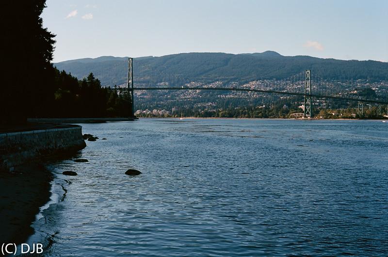 Lions Gate Bridge, Vancouver, BC, Canada.