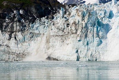 Margerie Glacier calving Glacier Bay National Park and Preserve, Alaska