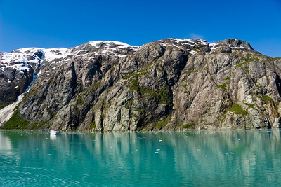 Glacier Bay National Park and Preserve, Alaska (note the boat on the left for scale)