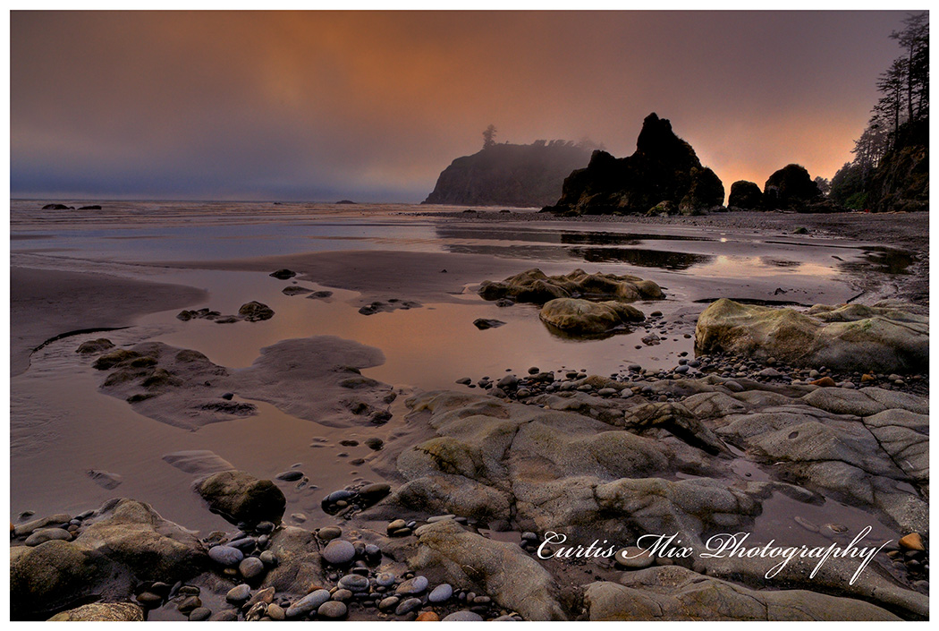 Ruby beach at Olympic National park.