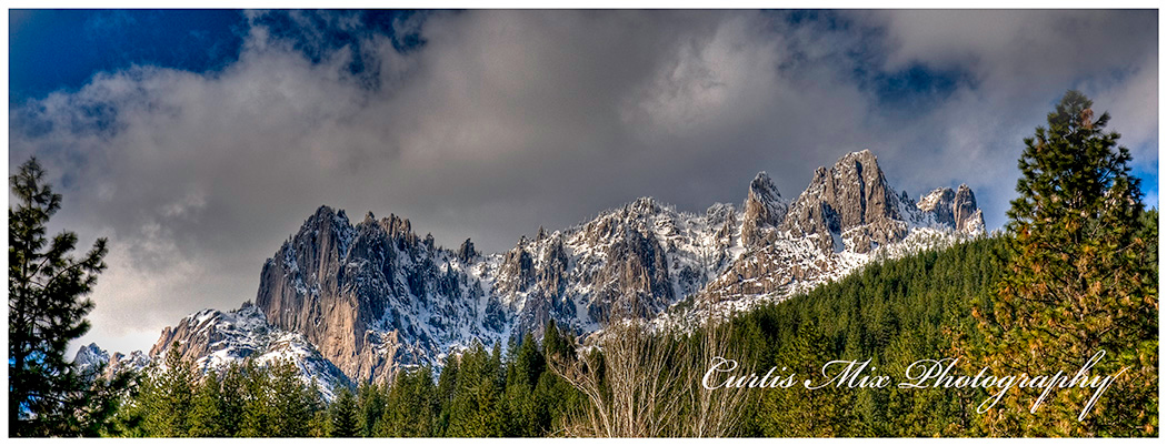 Winter afternoon at Castle Crags.