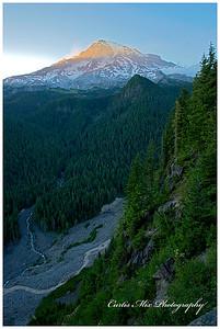 Sunset, Mt. Rainier.