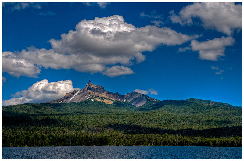 Mt. Thielson from Diamond Lake.