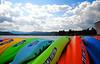 Boats on the pier at Coeur d'Alene Idaho off lake Coeur d'Alene.