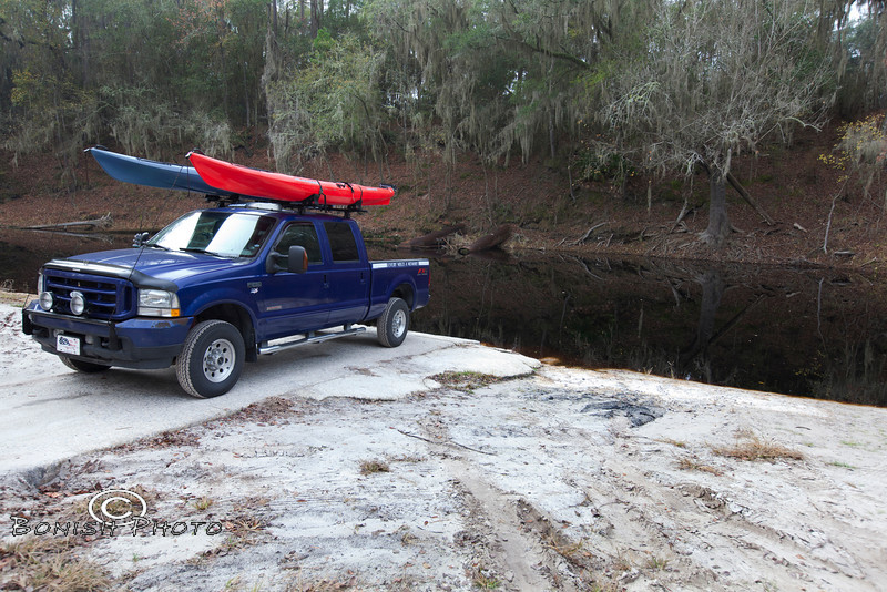 If the Suwannee River was at normal levels, my truck would be underwater right now - Photo by Pat Bonish