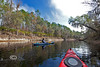 Heath Davis enjoying the calm, quiet waters of the Suwannee River - Photo by Pat Bonish