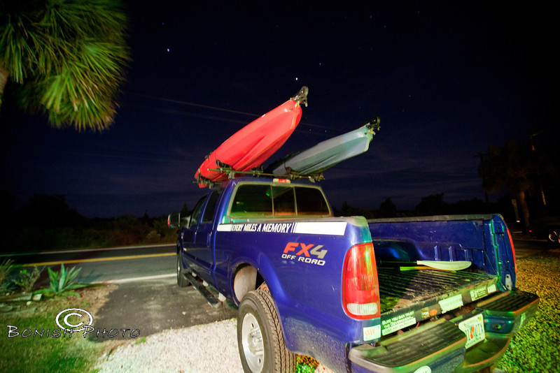 Truck loaded up and ready to leave for the Suwannee River - Photo by Pat Bonish