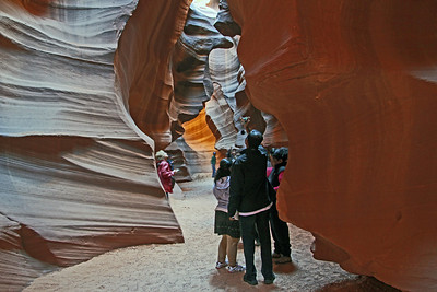 Inside Antelope Canyon in Arizona