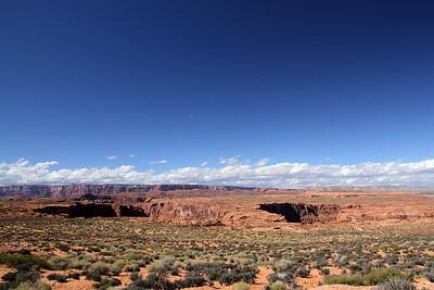 Landscape in the Page Arizona area near Colorado River