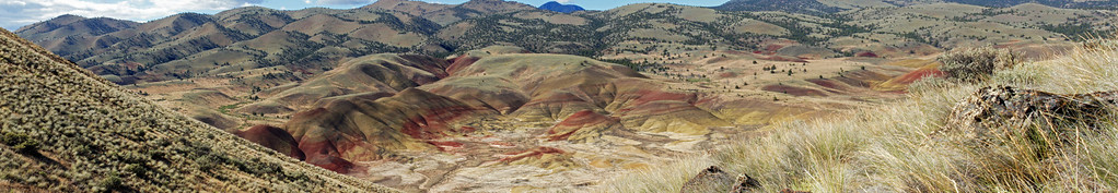 Painted Hills Panorama Mid-Morning