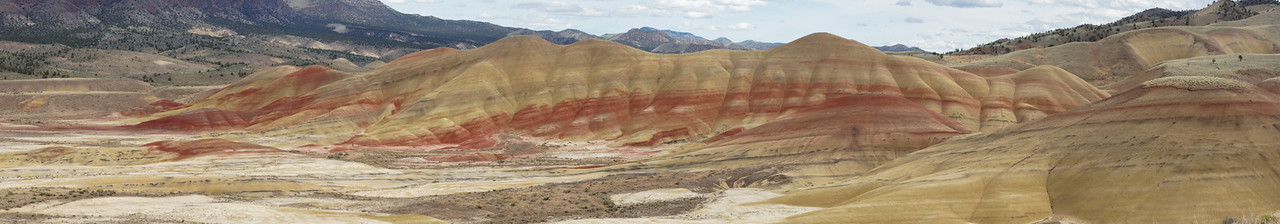 Painted Hills Panorama Afternoon