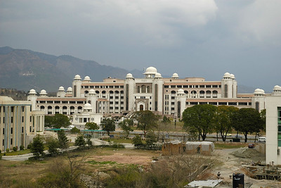 Pakistan Prime Minister (PM's) Secretariat in Islamabad, Pakistan seen from COMSAT's Office building.