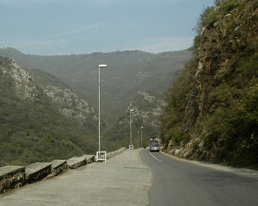 Road leading from Marghallas Hills, Islamabad, Pakistan