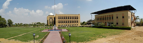 Panoramic image of FAST-NU Main Campus, Karachi. FAST-NU is one of the premier institutions imparting technology education in Pakistan. Its computing graduates are recognized world-wide.   Website: http://khi.nu.edu.pk