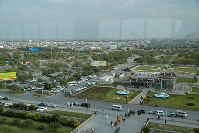 "View of Jinnah International Airport (previously called Quaid-e-Azam International Airport) (IATA Code: KHI, ICAO: OPKC). This is Pakistan's largest international and domestic airport. It is located in Karachi, Sindh, Pakistan. The airport is named after Muhammad Ali Jinnah, the founder of Pakistan, who was also known as Quaid-e-Azam (""Great Leader""). The airport provides primary hub for the flag carrier, Pakistan International Airlines (PIA)."