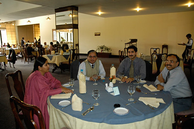 Staff of COMSATS (Commission on Science and Technology for Sustainable Development in the South) which is an international organization took me out to lunch to a Club near the office. Includes Mr. Tajammul Hussain and Mr. Irfan Hayes. COMSATS aims to reduce the ever-growing gap between the developed and developing world through useful applications of science and technology. Islamabad, Pakistan.  Website http://www.comsats.org.pk