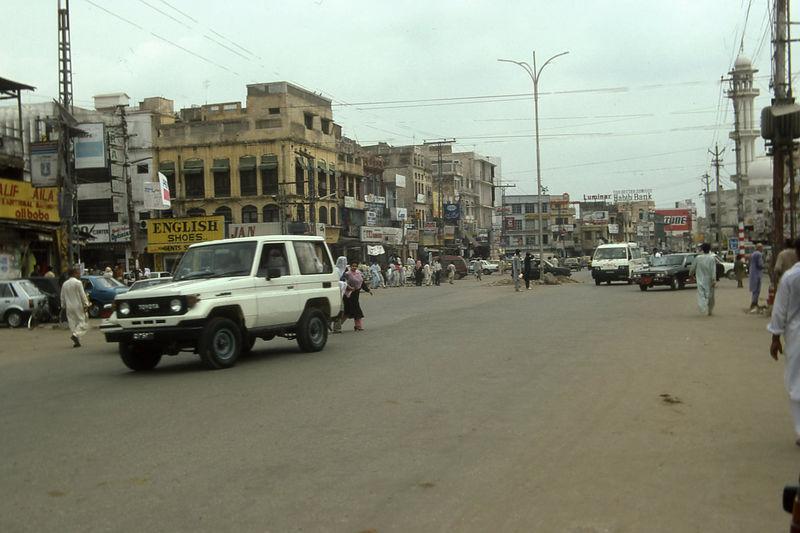 Rawalpindi street scene.
