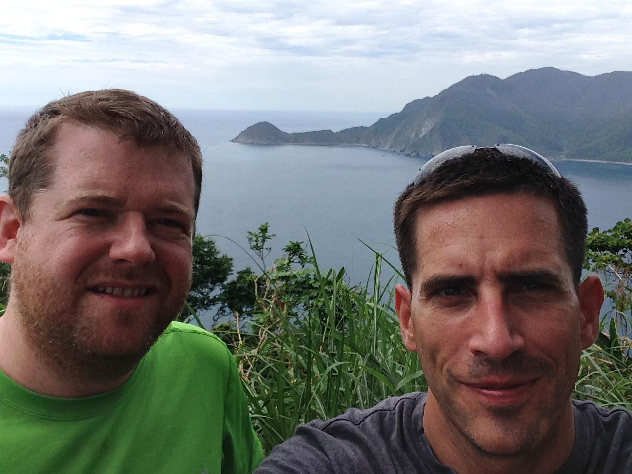 On our way to Taroko Gorge from Taipei, in Taiwan.