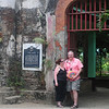"At the entrance to <a href=""http://thepausesbetween.com/2012/12/15/puerto-princesa-plaza-cuartel/"">Plaza Cuartel</a>, a WW II historical site, in Puerto Princesa."