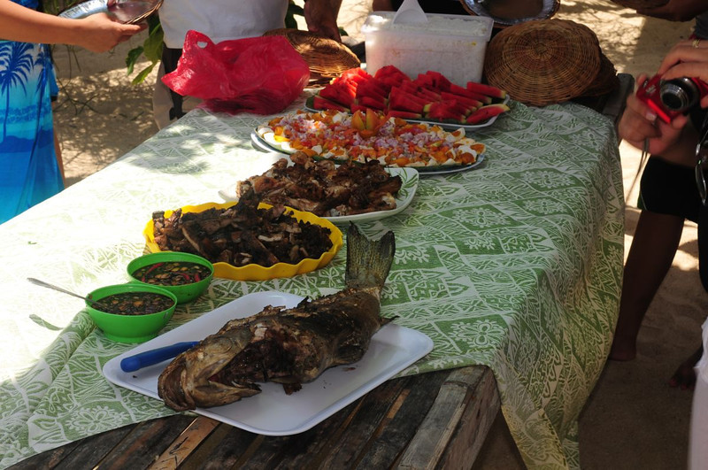 Lunch on Starfish Island in Honda Bay was prepared before our eyes by our tour guide.