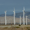 Road trip from Las Vegas to Palm Springs - many wind mills on our way.