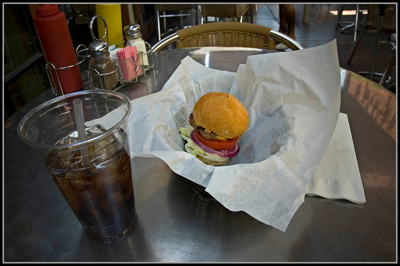 """""""The Baby Boomer Burger"""" Taken at a local burger shop in Palm Springs, Ca."""