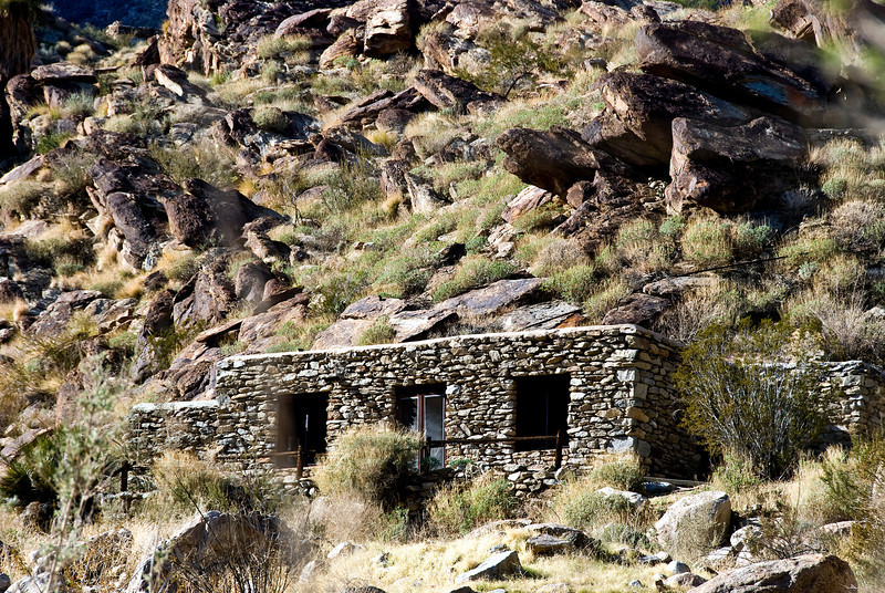 Indian rock house at end of Andreas Canyon