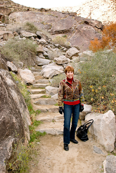 Sue hiking Tahquitz