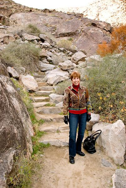 Sue hiking Tahquitz