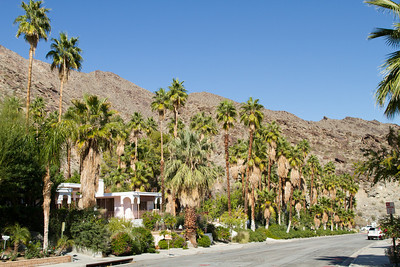 Old Palm Springs backing up to the mountains 2/09/2013