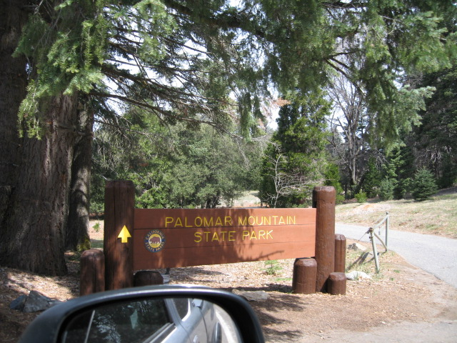 4/8/07 Entrance to Palomar Mountain SP, S7 (State Park Rd), N. San Diego County, CA