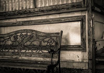 Delapidated bench, Colton WA