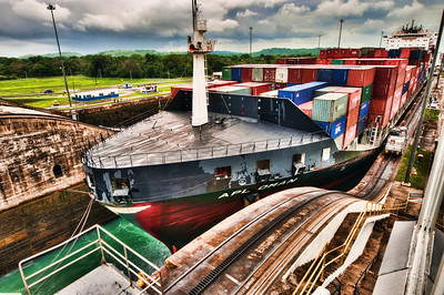 Magnificent & Amazing Panama Canal, a view from Gatun Locks