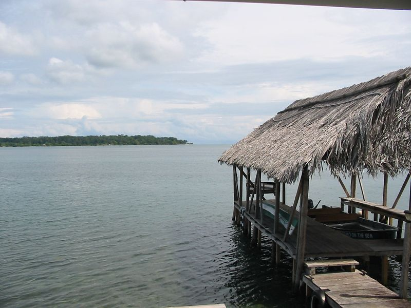 "Dock next to our hotel in <a href=""http://www.bocas.com/"">Bocas</a>"