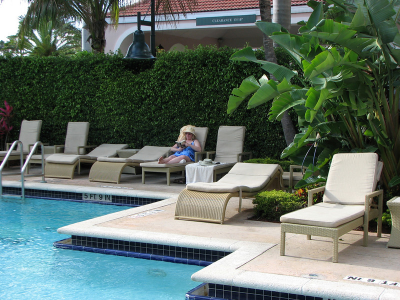Yes it was quiet in the pool area.
