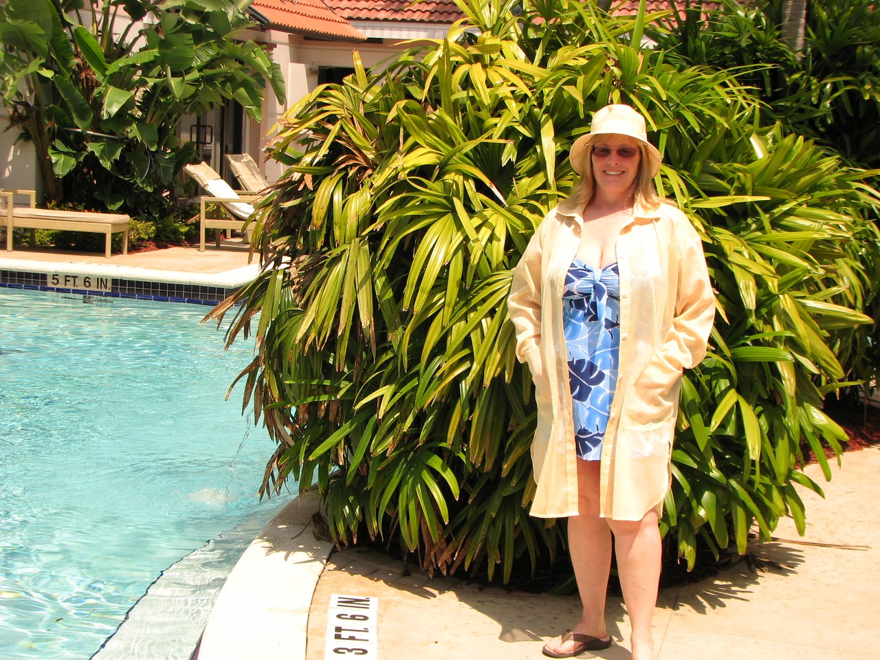 Karen at the pool